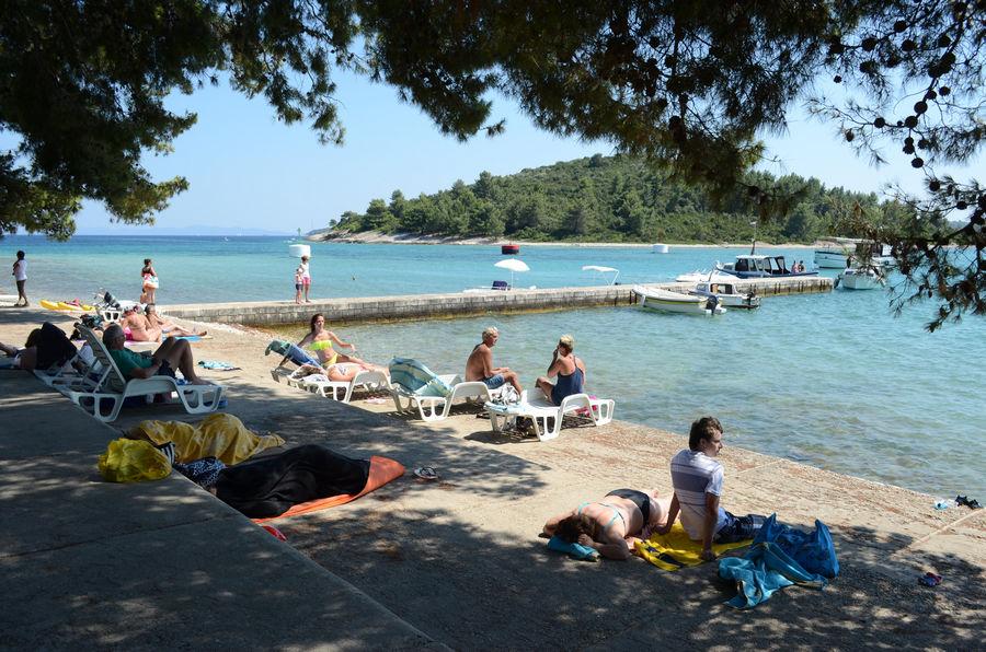 Badija plaża wyspa z korcula