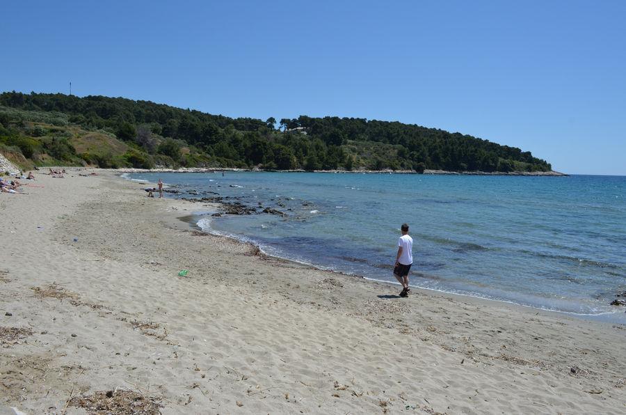 Lumbarda piaszczysta plaża przina