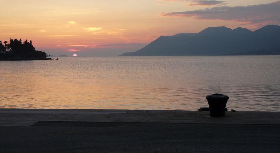 sončni zahod v Korčula