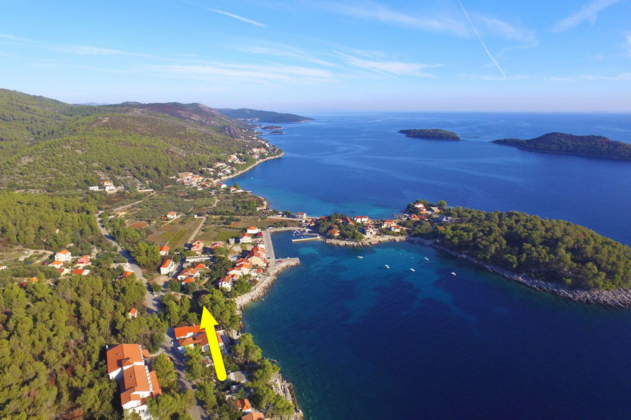 Korcula-Prizba-Apartment-Tonci-House-from-Air-01